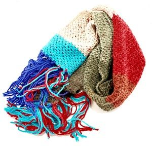Women's Scarf Knitted Multi Color